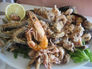 Greece, Corfu, sea food, fish, food